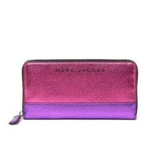 NWT Marc Jacobs Metallic Continental Wallet